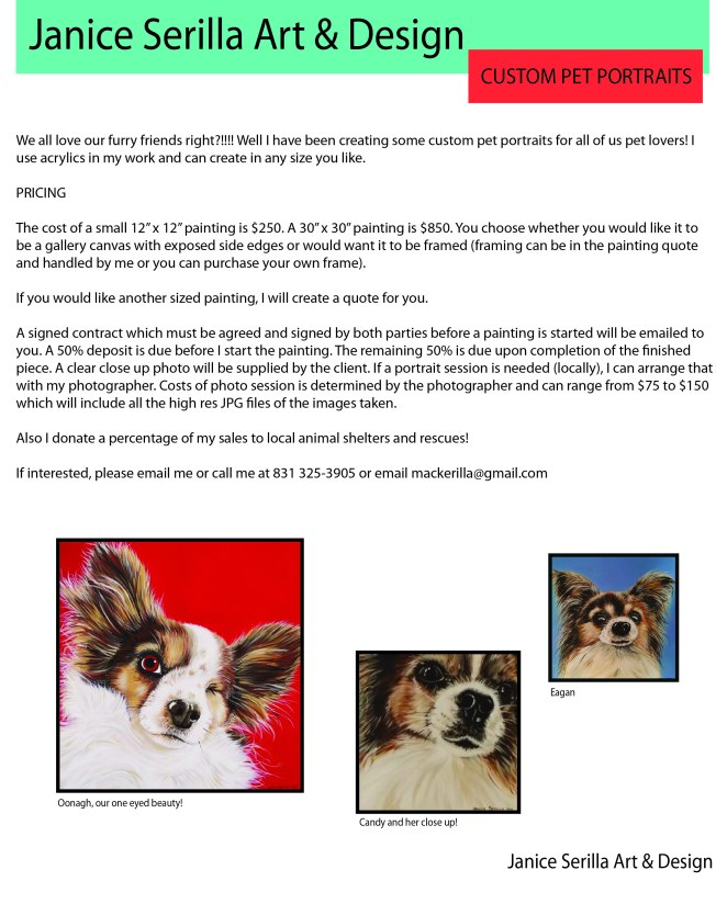 Custom pet portrait flyer